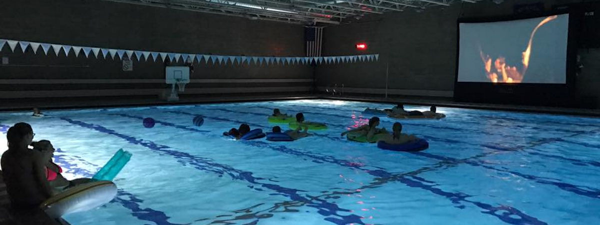 dive-in movie at the Crookston Community Pool