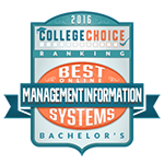 Award Badge Icon for College Choice's Best Online Bachelor's in Management Information Systems.