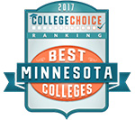 Best Minnesota College by College Choice in 2017 Award Badge