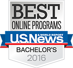 Best Online Bachelor Programs US News and World Report Badge