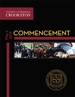 University of Minnesota Crookston Commencement 2019 Program Cover. Click the image to open.