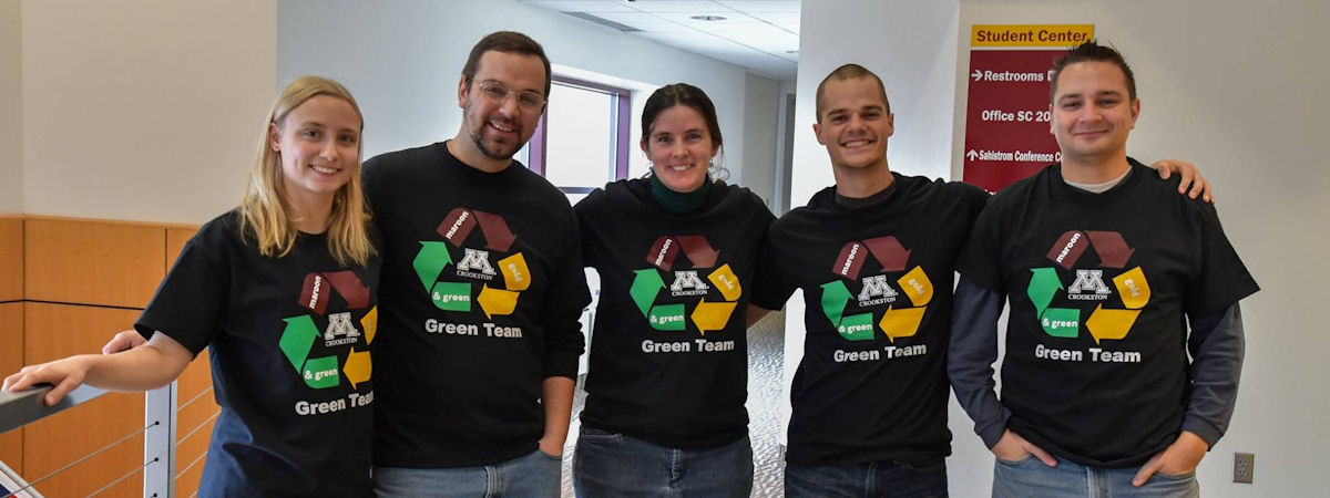 members of the Green Team in their t-shirts