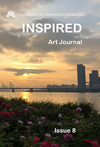 Inspired Art Journal - Issue 8 Cover showing a city skyline at dusk