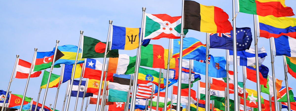 Image of foreign flags