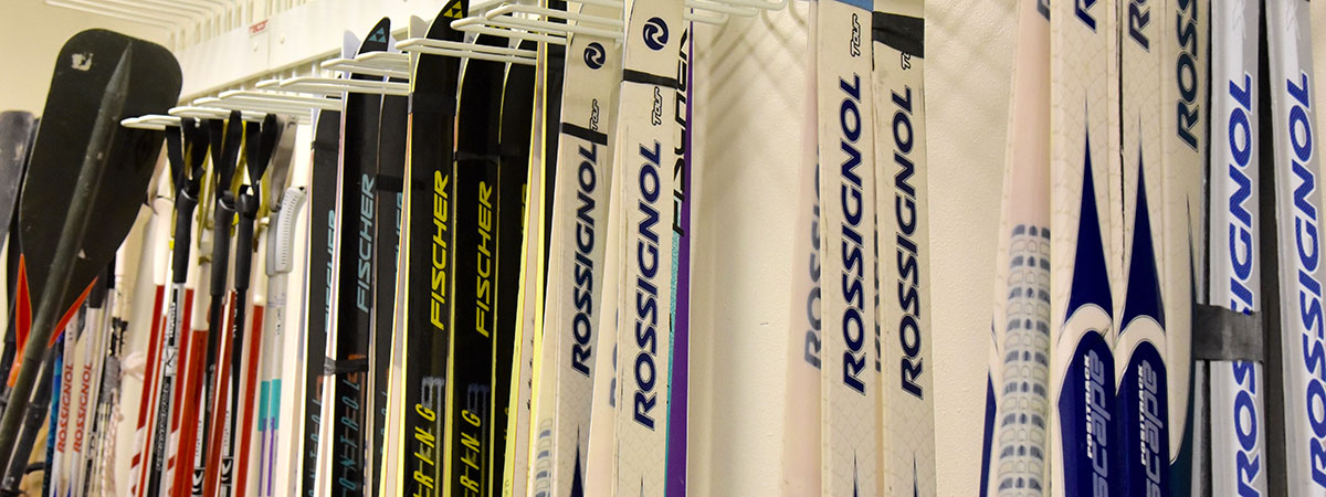 Cross Country Skis available to rent.