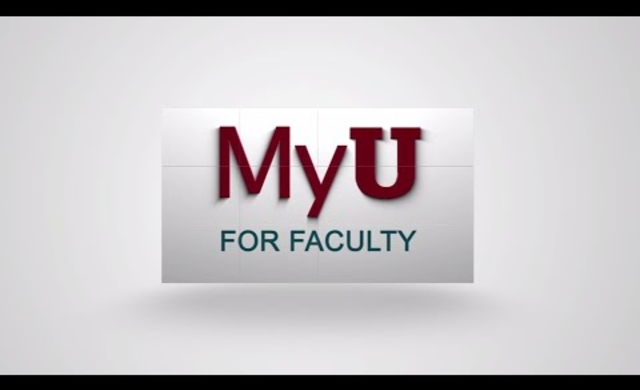 The New MyU for Faculty