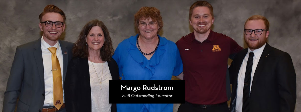 Margo Rudstrom, 2018 Outstanding Educator Award Recipient