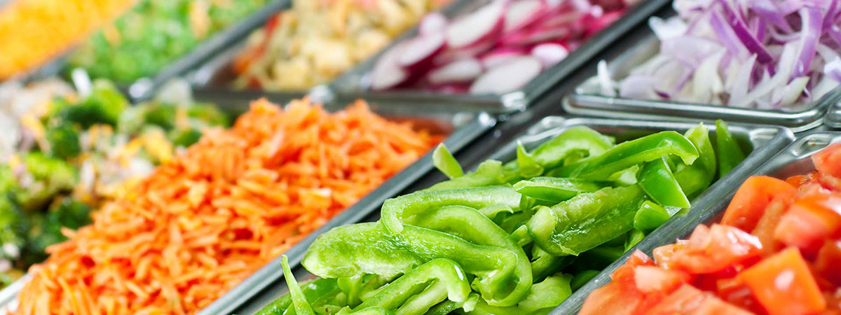 Picture of a salad bar