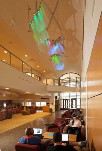the Northern Lights Lounge in Sargeant Student Center