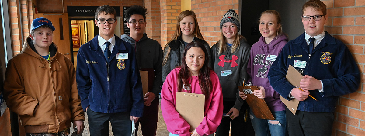 Group of Students Contest at UMC's Agriculture and Natural Resources Activities Day