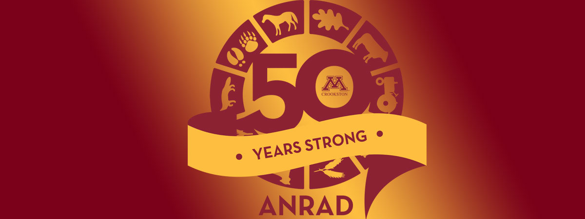 Decorative Agriculture and Natural Resources Day logo with the 50 years strong banner across it.