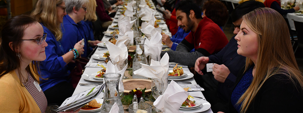 Farm to Table table of guests during the 2018 event.