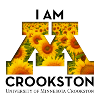 I am Crookston Facebook profile or Instagram logo with sunflowers