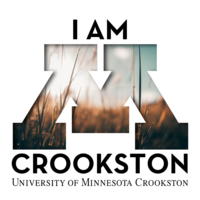 I am Crookston Facebook profile or Instagram logo with a wheat field