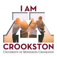 I am Crookston Facebook profile or Instagram logo with friends