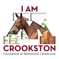 I am Crookston Facebook profile or Instagram logo with a horse