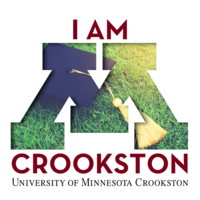 I am Crookston Facebook profile or Instagram logo with graduation hat