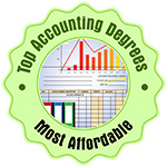 """""""Most Affordable Online Bachelor's in Finance"""" by Top Accounting Degrees Award Badge"""