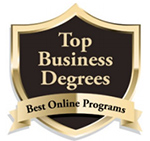 """UMC ranked among the top 21 (at number 1) """"Online Bachelor's in International Business Programs"""" in the nation for 2018 by Top Business Schools and Degrees Award Badge"""
