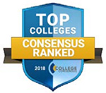 """""""Best Regional Colleges in the Midwest"""" by College Consensus award badge"""