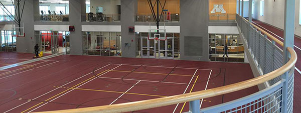 Wellness Center walking/running track and two court gymnasium